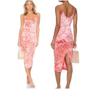 🇺🇸 ENZA COSTA STRAPPY SLIT ANKLE LENGTH DRESS